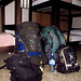Our last hostel room for the trip, Chris\\\' packs on the left, and mine on the right. San Jose, Costa Rica