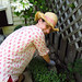 Deanna working in the garden (while I take a break). Waterdown, ON 21MAY12