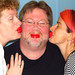 Kelly Todd and I being goofy with Babybel wax lips. Erin ON 20MAY12